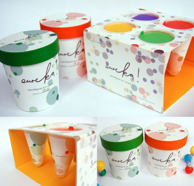 Landor Ice Cream - Eureka! by Helen Wilson. Let's have some #icecream #packaging curated by Packaging Diva PD