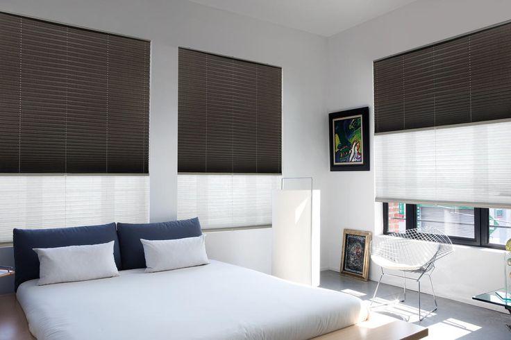 Copahome raamdecoratie plissé gordijnen zwart, wit / La décoration de fenêtre. Stores plissés noir