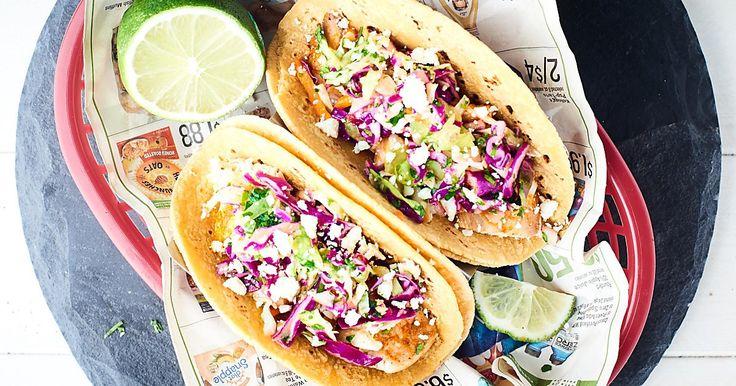 Baked Fish Tacos Recipe - Healthy, Gluten Free, 10 Min Prep
