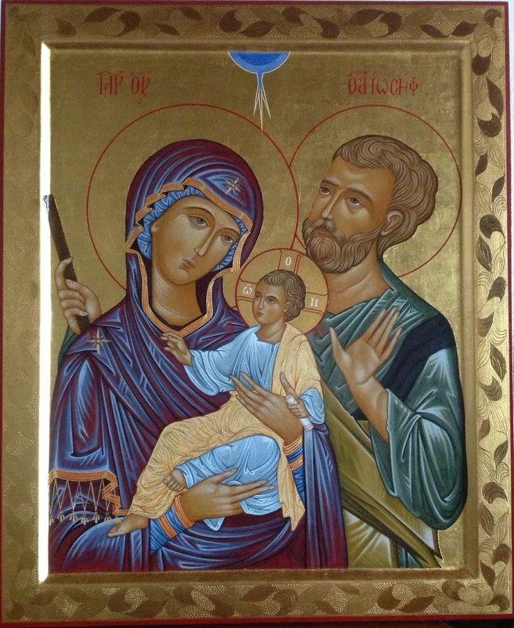 Holy Family icon by Paola Morandi