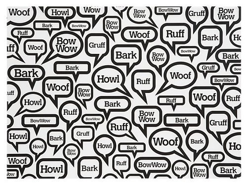 """""""Woof"""" Dog Mat - eclectic - pet accessories - Crate"""