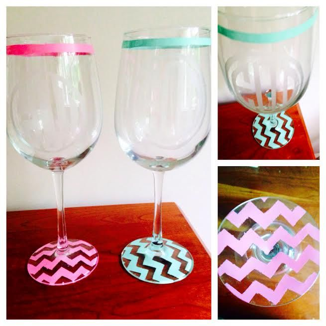 1000 ideas about monogram wine glasses on pinterest for Martha stewart christmas wine glasses
