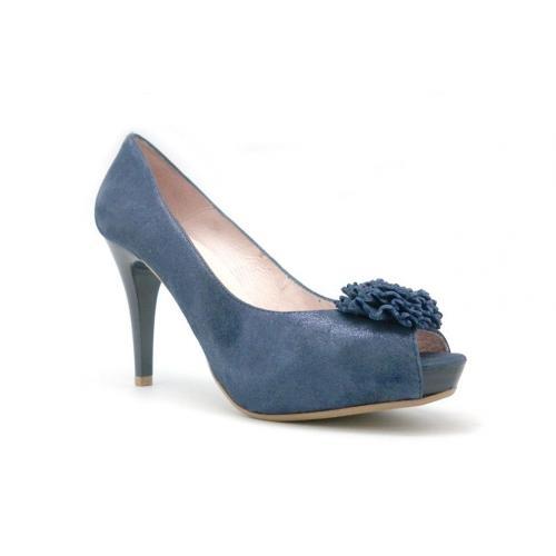 DORADO - Zapato Alto Cordones Combi (40, Azul)