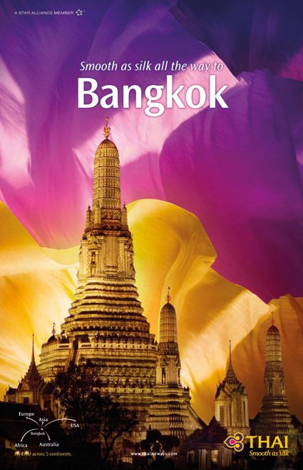 Bangkok: THAI Airways Destination Poster Collection on Behance