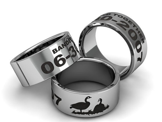 Custom Duck Band Ring We Cut A Wax Mold And Cast Our Rings The Images Are Not Cheap Laser Engravings If Its Duckbandbrand Just Imitation