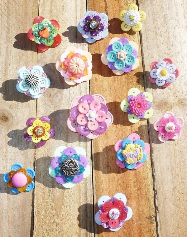 Dekorativ-Und-Brillant-Button-Art-And-Craft-Ideas   – Crafty ideas