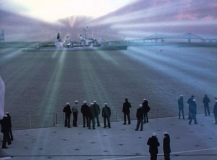 The Philadelphia Experiment is the name of an alleged naval military experiment said to have been carried out at the Philadelphia Naval Shipyard in Philadelphia, Pennsylvania, USA sometime around October 28, 1943. It is alleged that the U.S. Navy destroyer escort USS Eldridge was to be rendered invisible to enemy devices. The experiment is also referred to as Project Rainbow.