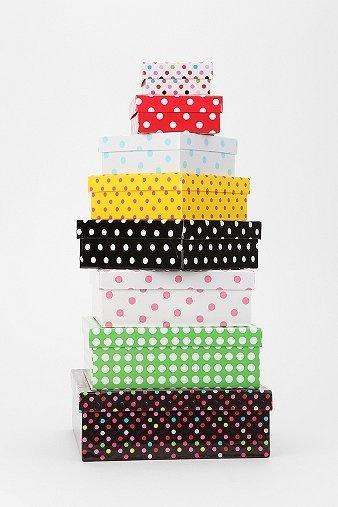 Polka Dot Storage Boxes