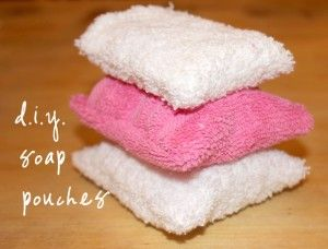 a pouch for bars of soap - what a great idea! this might actually get me to use bar soap