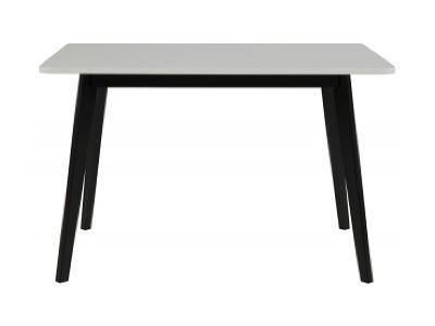 Jídelní stůl Corby, 120 x 80, černá / bílá SC0000064005 SCANDI