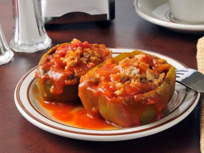 5 Fast And Easy Stuffed Green Peppers Bobby Flay Only In Jurusolek Com Stuffed Peppers Italian Stuffed Peppers Peppers Recipes
