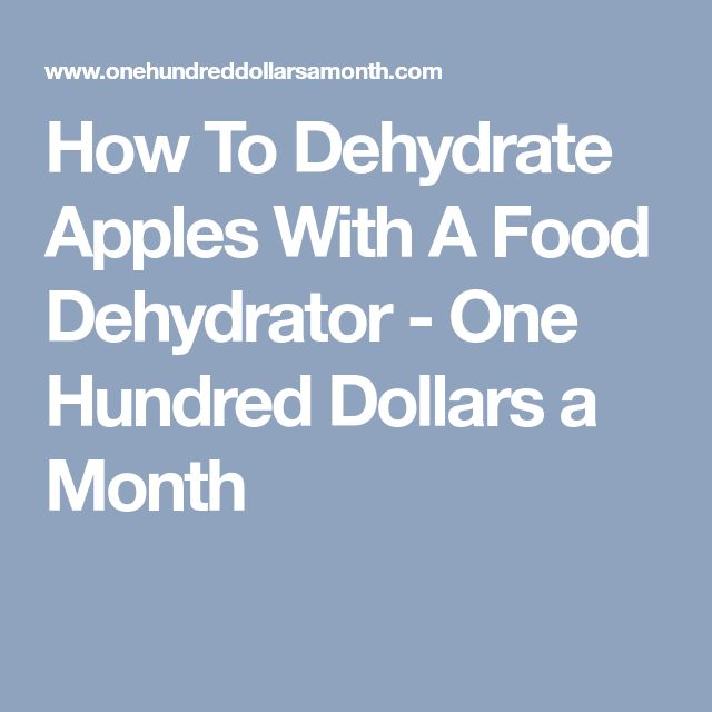 How To Dehydrate Apples With A Food Dehydrator - One Hundred Dollars a Month