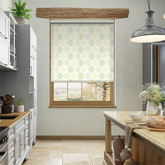 Lovely Sprigs Park Green Roller Blind