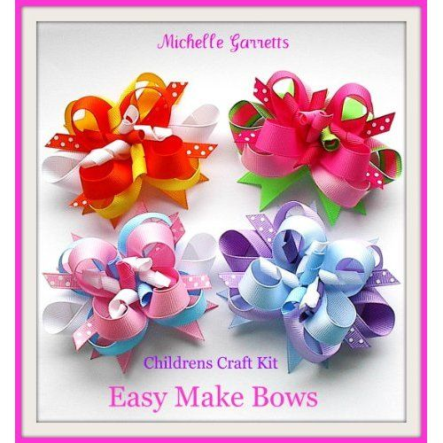 Kids Craft,holiday,how to Make Hair Bows Instructions Assembly
