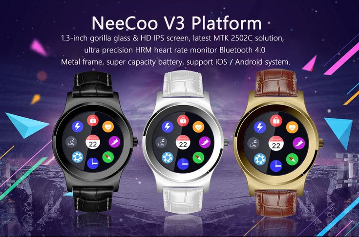 NeeCoo V3 Heart Rate Monitor Smart Watch Bluetooth Music Fitness Activity Watch #NeeCoo