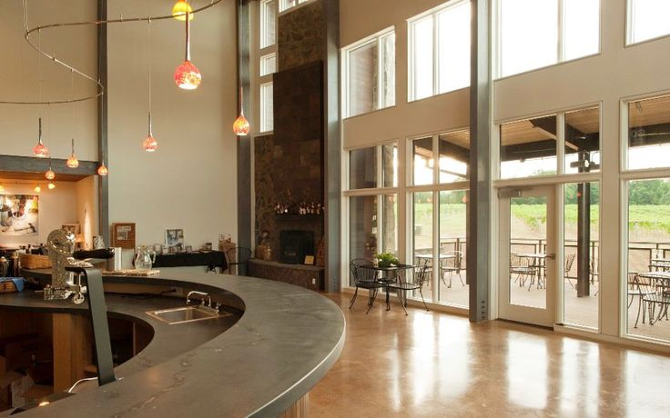 Commercial Wine Tasting Room Design | View the embedded image gallery online at: