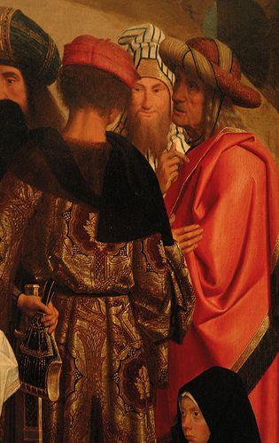 Geertgen tot Sint Jans, Raising of Lazarus, detail