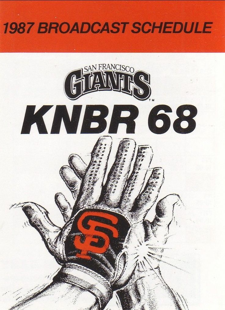 1987 San Francisco Giants Schedule--KNBR/Grossman's