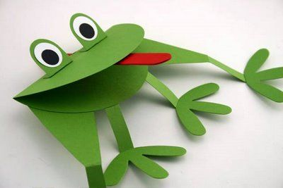 frog puppetCrafts Ideas, Frog Crafts, Crafts Projects, Frogs Puppets, Paper Frogs, Frogs Crafts, Fun Kids Crafts, Crafts Sticks, Puppets Crafts