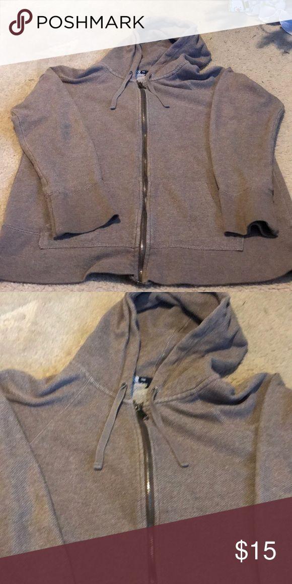 Xl brown gap zip up hoodie Solid brown zip up from gap. GAP Tops Sweatshirts & Hoodies