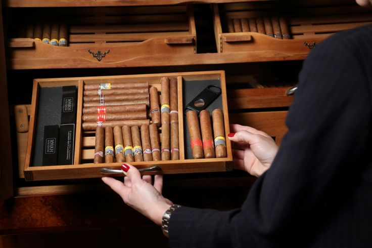 An outstanding assortment of cigars at Ithaki Restaurant.