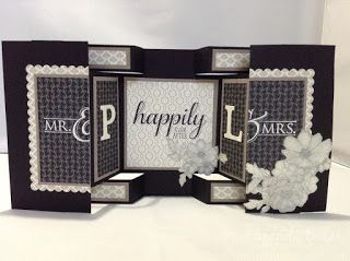 The Craft Spa - Stampin' Up! UK independent demonstrator : Timeless Elegance Large Square Double Display Wedding Card