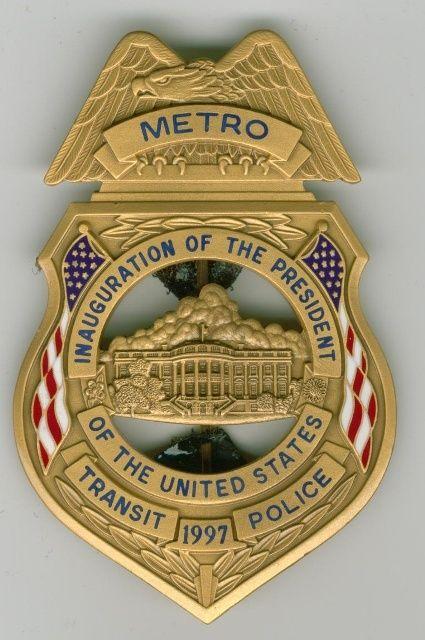 Metro Transit Police Inauguration Badge | BADGES | Badge ...
