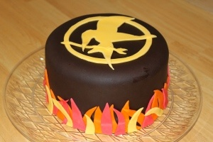 Hunger games cake for Lauren!