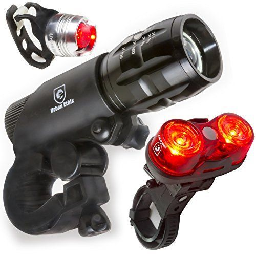 LED Lights For Bikes - Helmet Light - Quick Release Mounts - Best Flashing Front and Back Tail Light Set - Safest Super Bright Headlight Torch and Rear Cycling Kit for All Bicycles * Read more  at the image link.