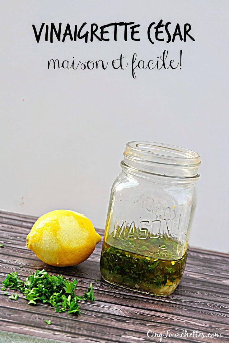 Cinq Fourchettes etc.: Vinaigrette césar avec son ingrédient secret et sans oeuf dans un pot masson
