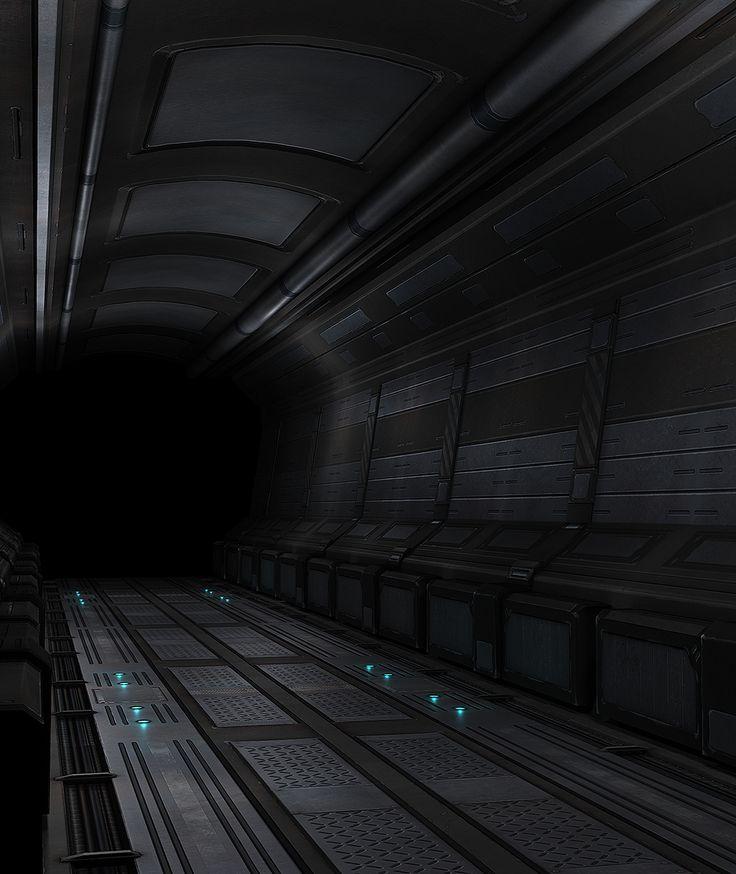 Sci-Fi Hallway by beere.deviantart.com on @deviantART