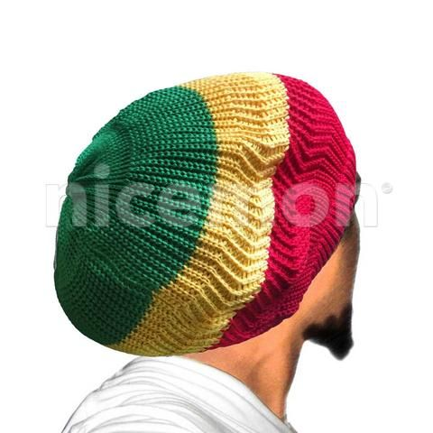 Rasta Dread Dreadlocks Tams Hat Beret Hippie Cap Reggae Marley Jamaica M/L Fit