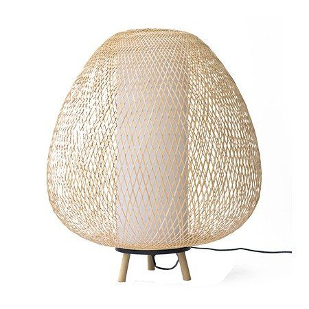 Ay Illuminate Tafellamp Twiggy Egg naturel bruin bamboe Ø60x70cm - wonenmetlef.nl