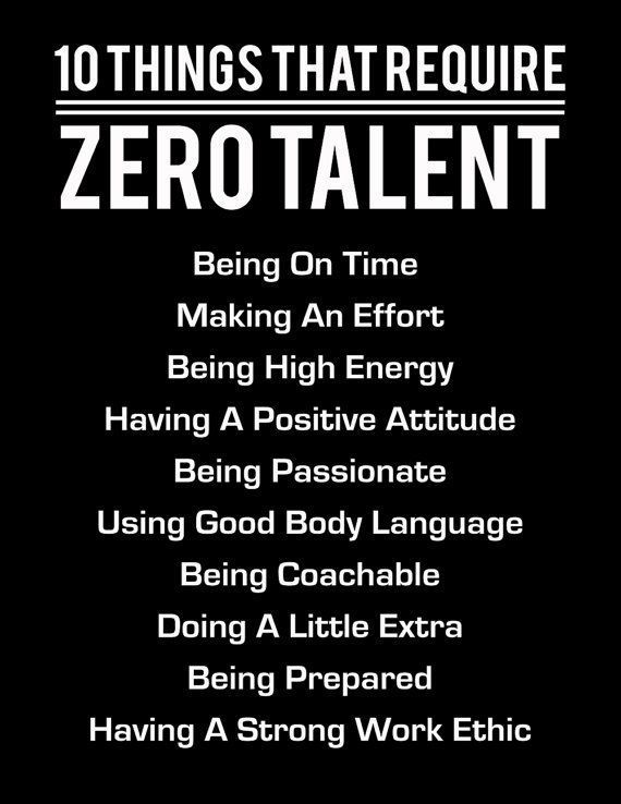 10 Things That Require Zero Talent White On Black Inspirational