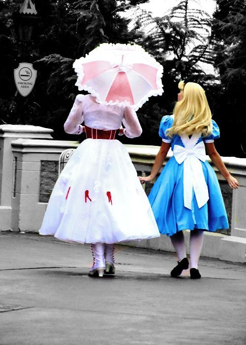 alice and mary poppins - disney face characters