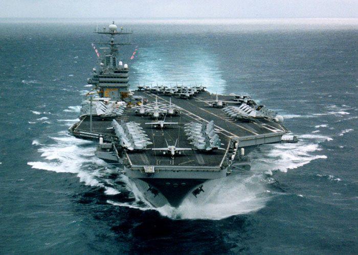 U.S.S. Carl Vinson Bow, under way