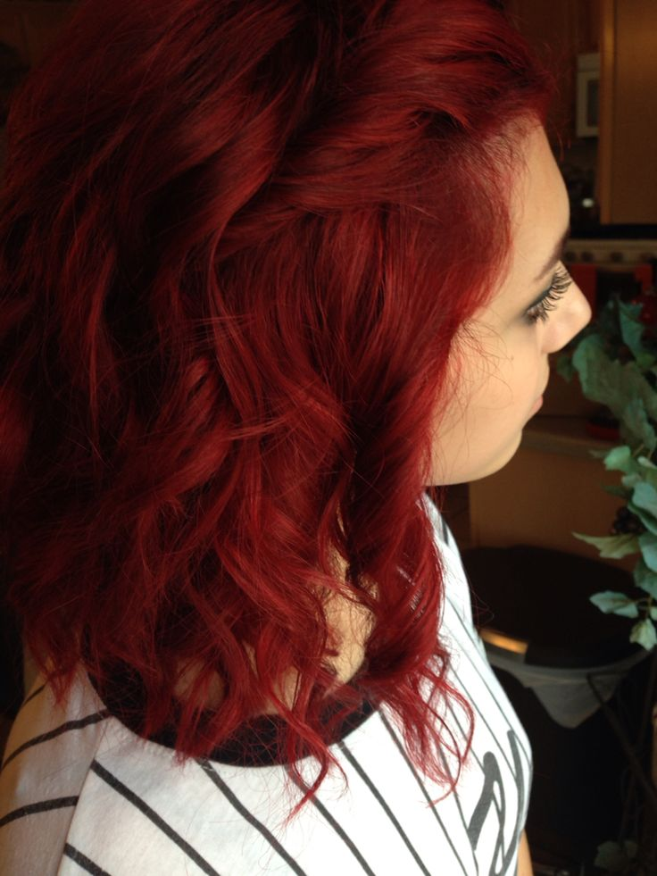 current hair, joico's ruby red!