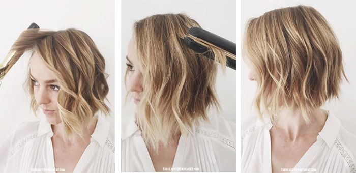 Easy Beach Waves For Short Hair With
