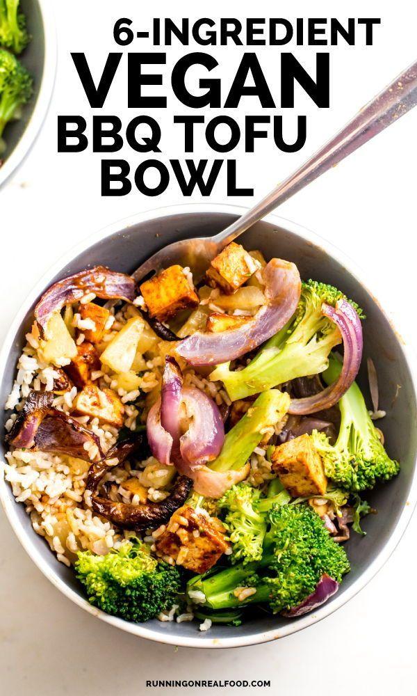 Vegan BBQ Tofu Bowls   Recipe   Quick Easy Vegan Recipes