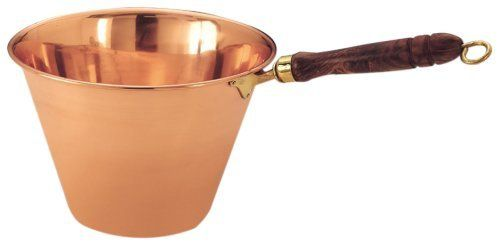 Old Dutch Solid Copper Polenta Pan with Wooden Handle, 5 Quart by Old Dutch. $68.75. 4 quart capacity. Copper has been lacquered to resist tarnishing.. Solid Copper. Want to cook your own polenta, just like your Italian grand-mama would? This is just the pot for you! This traditional polenta pan is made of unlined copper. While appropriate for preparing polenta, it may not be suitable for cooking other types of foods, especially acidic foods such as tomato sauces, etc.
