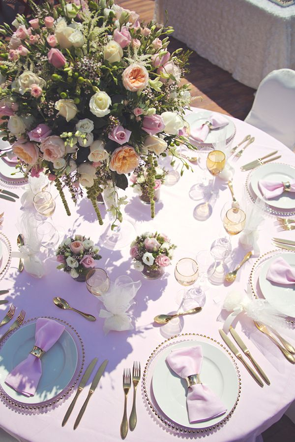 Blush pink wedding decoration by www.StyleConcept.gr  στολισμος-γαμου-centerpiece