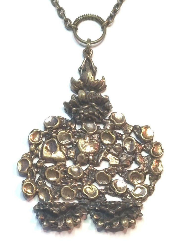 Pentti Sarpaneva Finland - Beautiful Large Vintage Bronze Necklace - 3136 Signed #SarpanevaJewelry
