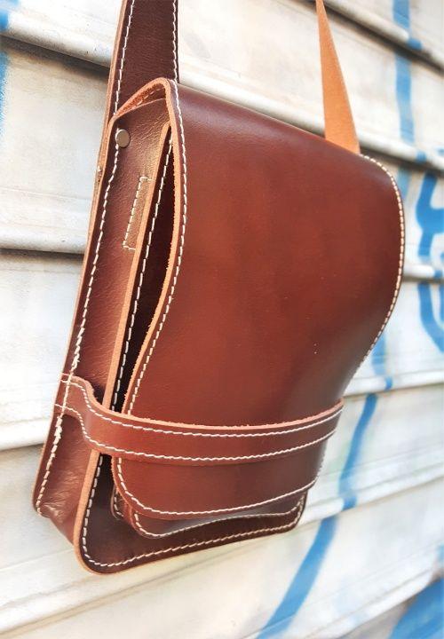 Schön stabil. Männer-Handtasche von Jahn-Tasche. #handmade #ledertasche #mystyle #menstyle