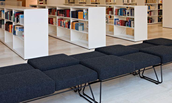 Inari-B2 bench, design Yuki Abe. Kaisa Campus Library