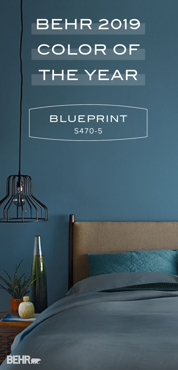 Create A Moody Blue Accent In Your Home With The Behr