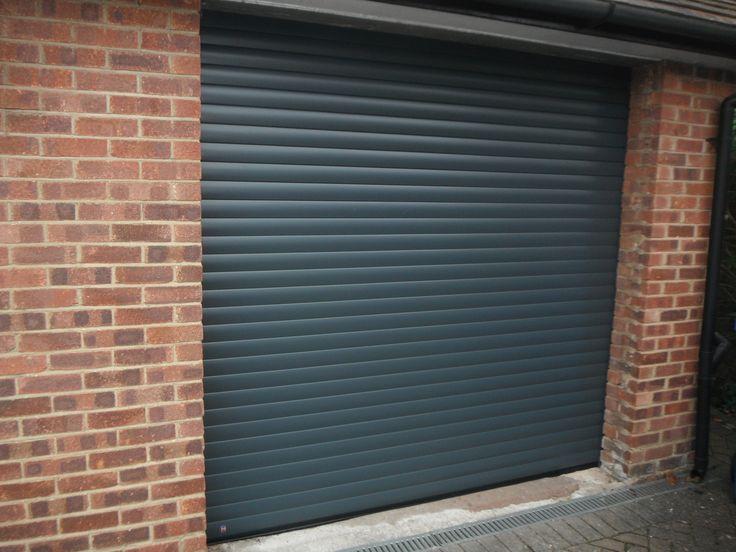 Hormann Rollmatic Garage Door In Anthracite Grey Finish.
