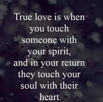 Deep... true, pure, honest love.you feel it anyway and if they aren't there, you still feel them. True  love.