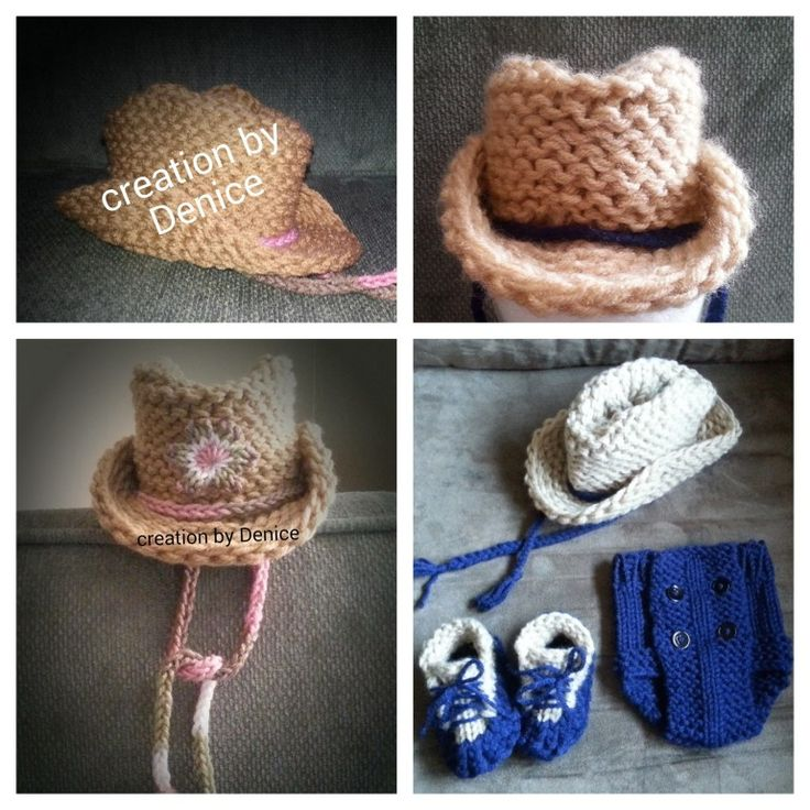 Loom Knitting Baby Hat Patterns : Loom knit cowboy hat infant goodknit kisses