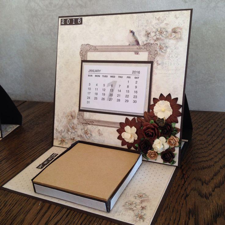 Kalender og post-it-kort