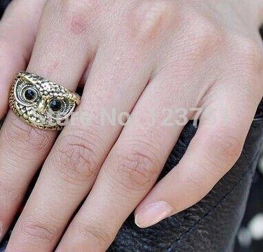 Купить Newretro симпатичные совы, Металл палец кольцо ( старинное серебро ) M1377и другие товары категории Кольцав магазине Baylin jessie's storeнаAliExpress. кольцо привело и серебряный лев кольцо